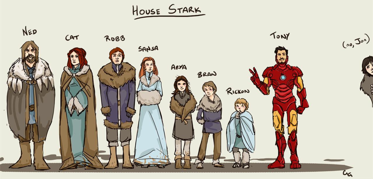 Humorheroldok oldala House-Stark