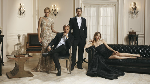 """BLOOD & OIL – ABC's """"Blood & Oil"""" stars Amber Valletta as Carla Briggs, Don Johnson as Hap Briggs, Chace Crawford as Billy Lefever and Rebecca Rittenhouse as Cody Lefever. (ABC/Kurt Iswarienko)"""