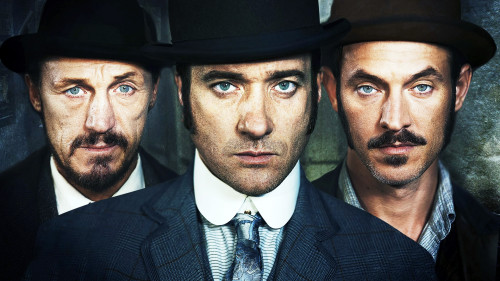 Programme Name: Ripper Street - TX: n/a - Episode: n/a (No. 1) - Embargoed for publication until: n/a - Picture Shows:  Bennet Drake (JEROME FLYNN), Edmund Reid (MATTHEW MACFADYEN), Captain Jackson (ADAM ROTHENBERG) - (C) Tiger Aspect - Photographer: Amanda Searle
